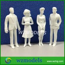 20pcs miniature white figures 1;25 Architectural model human scale HO model ABS plastic people
