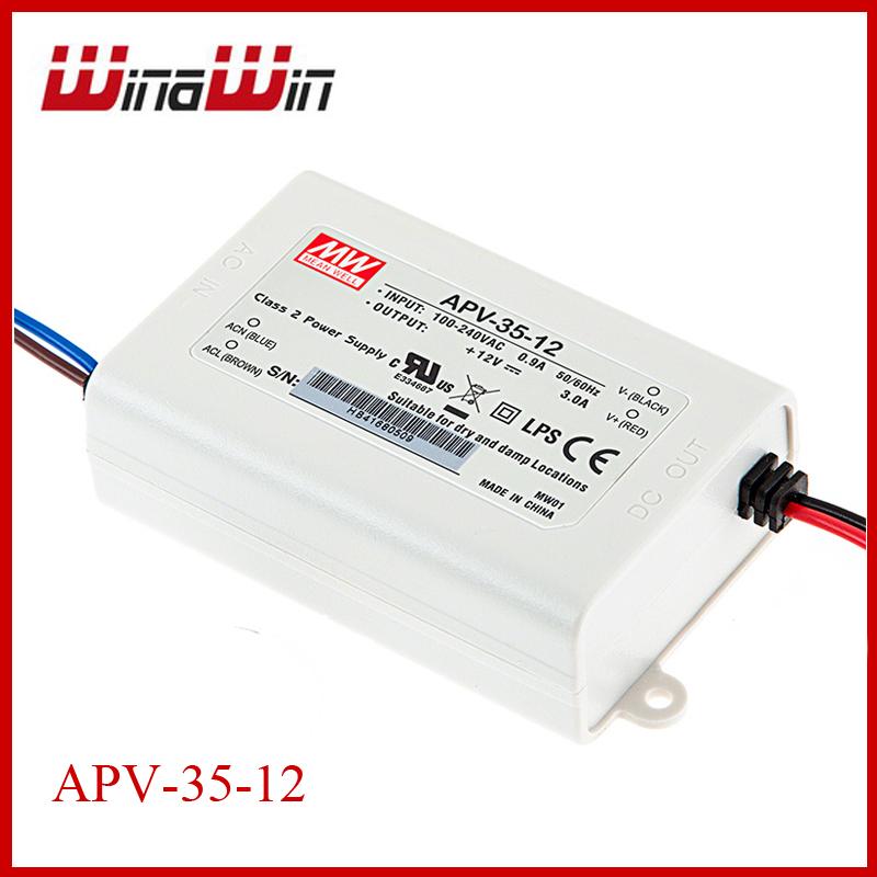 35W  MEAN WELL APV-35-12 12VDC LED Power Supply - APV series<br><br>Aliexpress