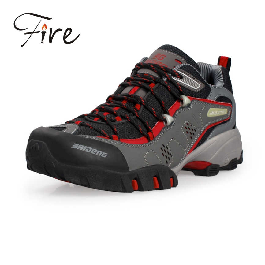 Winter spring Hiking Shoes Men Boots New 2015 Sport Leather Outdoor Shoes For Man Mountain Climbing Boots Trekking Botas Zapatos(China (Mainland))