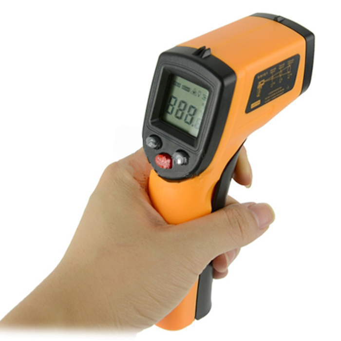 Gm320 Thermometer Infrared Digital Thermometer LCD IR Laser Non-Contact Temperature Gun Thermometer Laser Point Professional(China (Mainland))