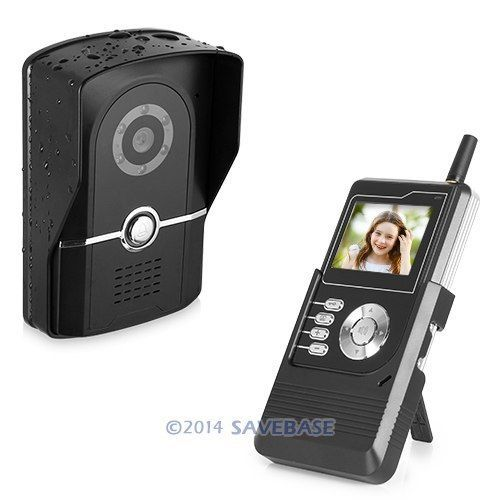 """HOMSECUR 2.4""""TFT LCD Wireless Video Door Phone System Waterproof Camera Snap Video Record(China (Mainland))"""
