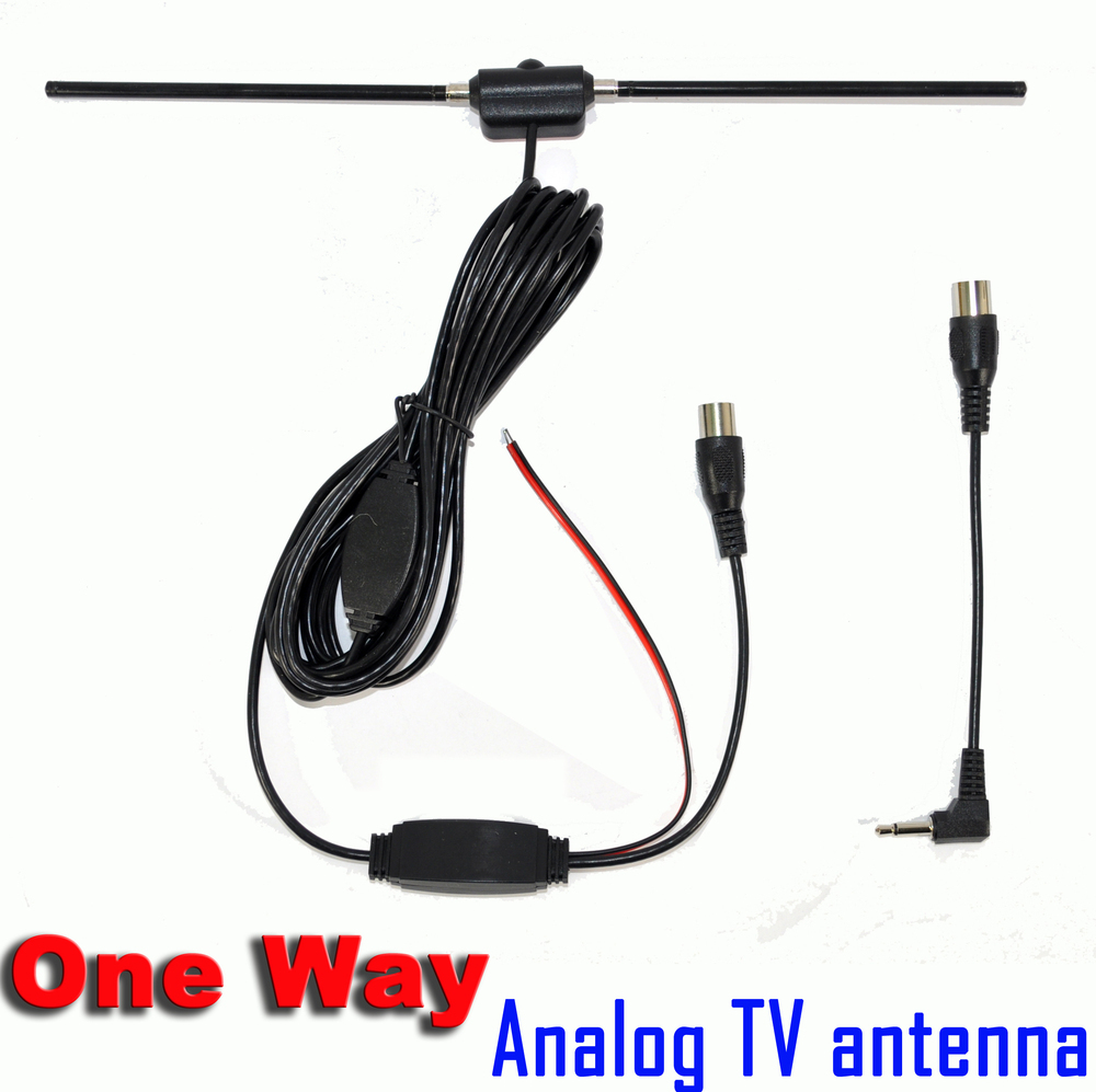 one Way Car Analog / aerial antenna with amplifier for car dvd / TV good quality hongkong post Free shipping(China (Mainland))