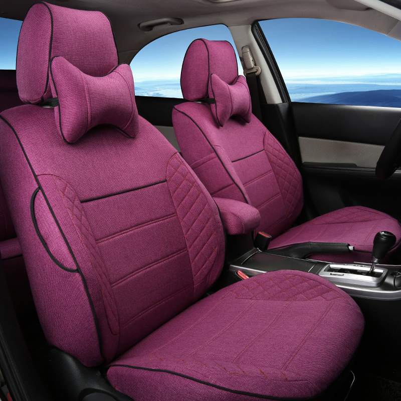 buy custom linen cloth cover seat for ford explorer car seat cover set full set. Black Bedroom Furniture Sets. Home Design Ideas