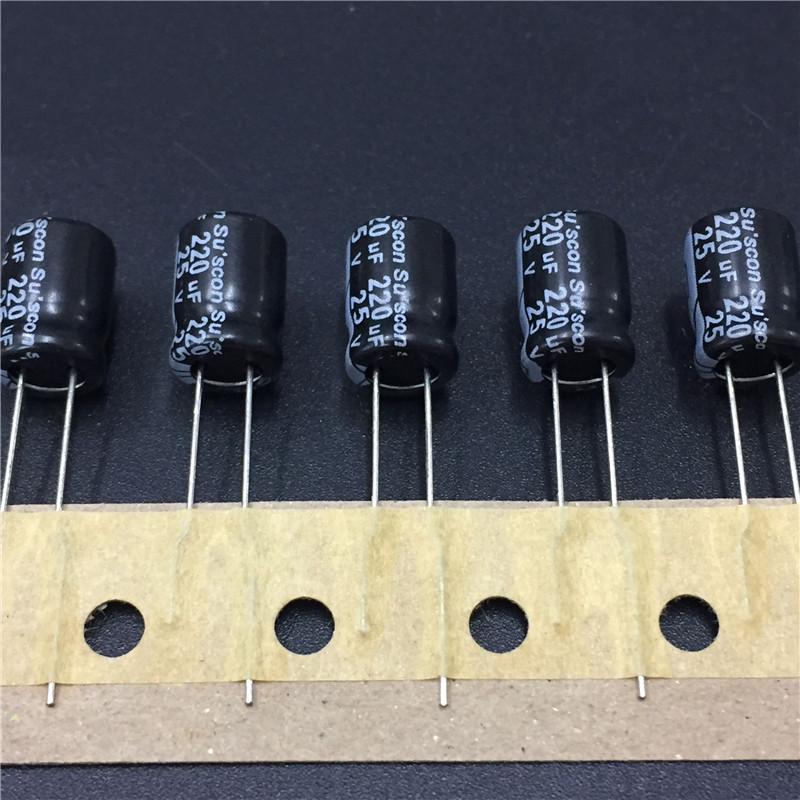 """10pcs 220uF 25 V su /""""SCON SK 25V220uF haute fiabilité Condensateur 8x12mm"""
