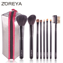 ZOREYA professional makeup brush set 8 pcs make up brushes wool make up brushes Portable beauty brushes for makeup make up(China (Mainland))