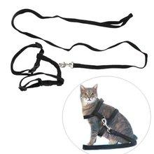 FJS!Adjustable Pet Cat Kitten Nylon Lead Leash Harness Set(China (Mainland))