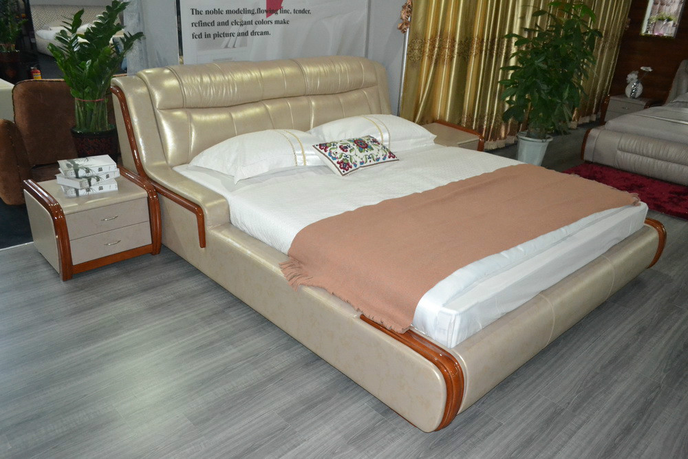 Muebles para casa cama soft bed real bedroom furniture - Muebles furniture ...