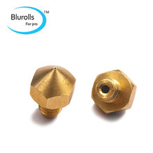 3 D printer parts Ultimaker extruder hot end brass nozzle 0.4 mm for 1.75 mm filament top quality free shipping