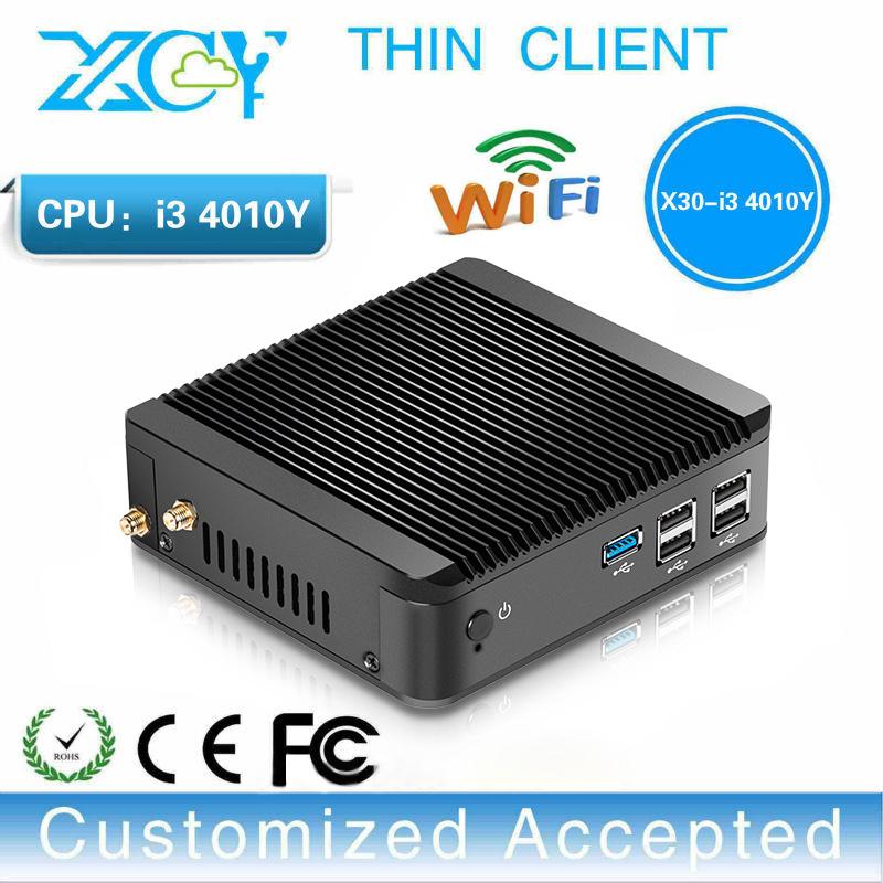 wholesales cheap mini pc computers core i3 4010y micro pc network terminal sharer thin client portable pc VGA HDMI(China (Mainland))