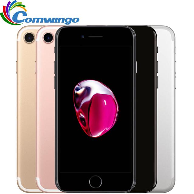 Оригинальный Apple iPhone 7 2 ГБ ОЗУ 32/128 ГБ/256 ГБ iphone7 IOS 10 touch ID LTE 12.0MP Камеры Apple Quad-Core Отпечатков Пальцев 12MP