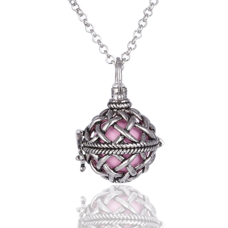 2016 New Fashion Pregnant Women Necklace Angel Ball Mexican Chiming Ball with 16mm bell Perfume diffuser pendant Woman Jewelry(China (Mainland))