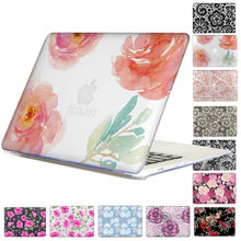 Floral Rose crystal Case For Apple Macbook Air 13 Case Air 11 Pro 13 Retina 12 13 15 Laptop Bag perfect Print Lace Pattern(China (Mainland))