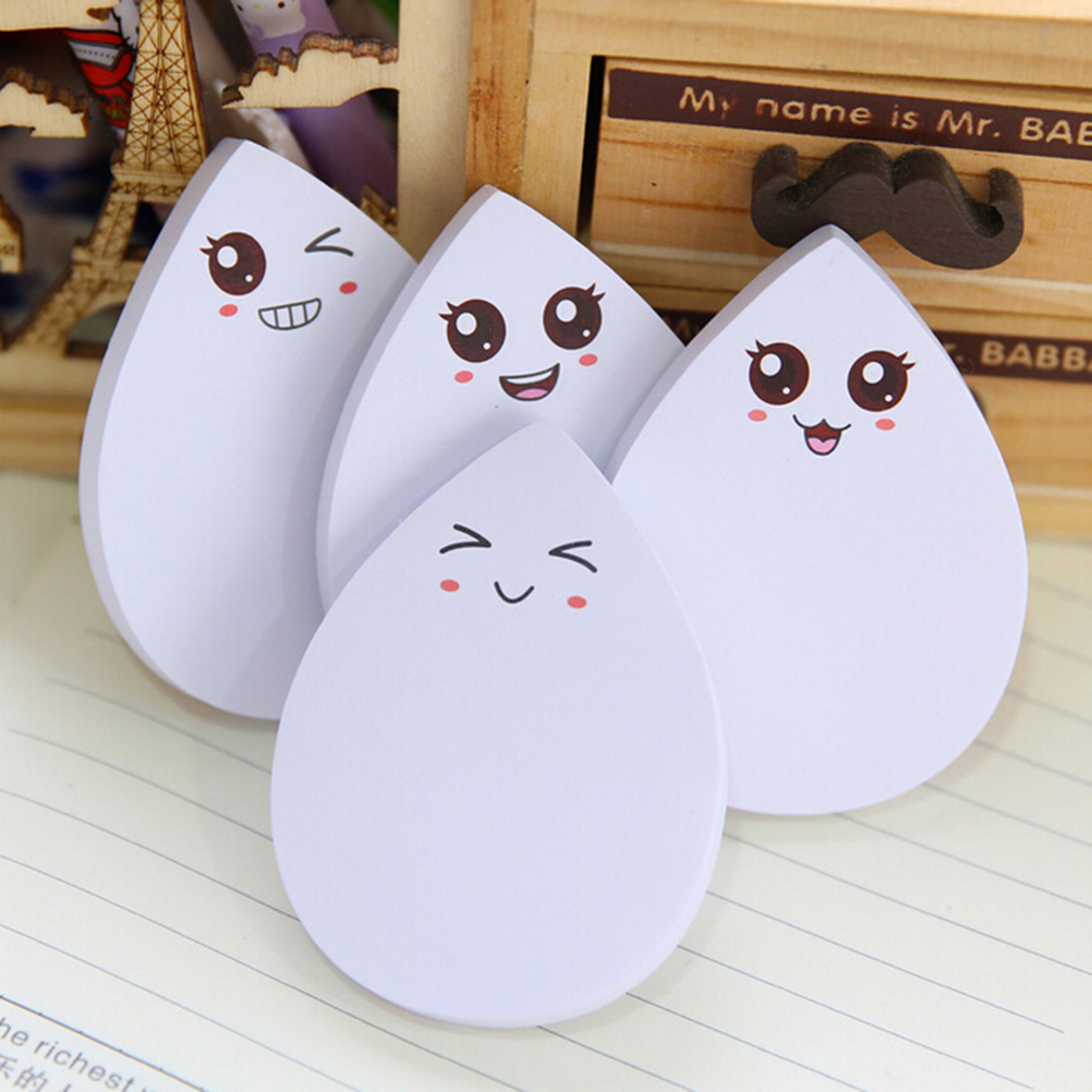 diy water drop face smily memo pad Sticky label post it school sticky note for school office supplies stationery wholesale new(China (Mainland))
