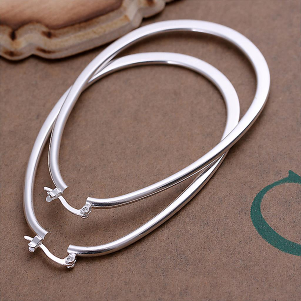 Fashion Silver Plated Big Hoop Earrings New Arrival Cute ...