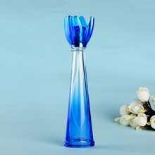 Free Shipping 16ml Blue Color Petal Design Gift Sample Perfume Bottles Refillable Containers Glass Spray Empty Travel Bottle(China (Mainland))