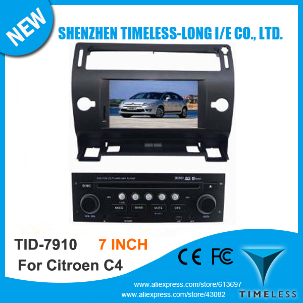 In Dash 7 Inch Touch Screen Car Stereo GPS Navigation For Citroen C4 With Bluetooth FM AM Radio Dual Zone Steering Wheel Control(China (Mainland))
