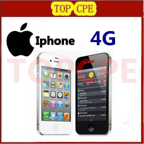 Iphone 4 100% Factory Original Unlocked Apple Iphone 4 Cell phone 3.5 Screen 8GB/16GB/32GB GPS WIFI Dual Camera Free Shipping(China (Mainland))