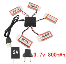 Buy BLLRC helicopter parts SYMA X5C X5C-1 X5S X5SC X5SW V931 four-axis aircraft 5PCS 3.7V 800mah lithium battery 5-in-1 charger for $21.90 in AliExpress store