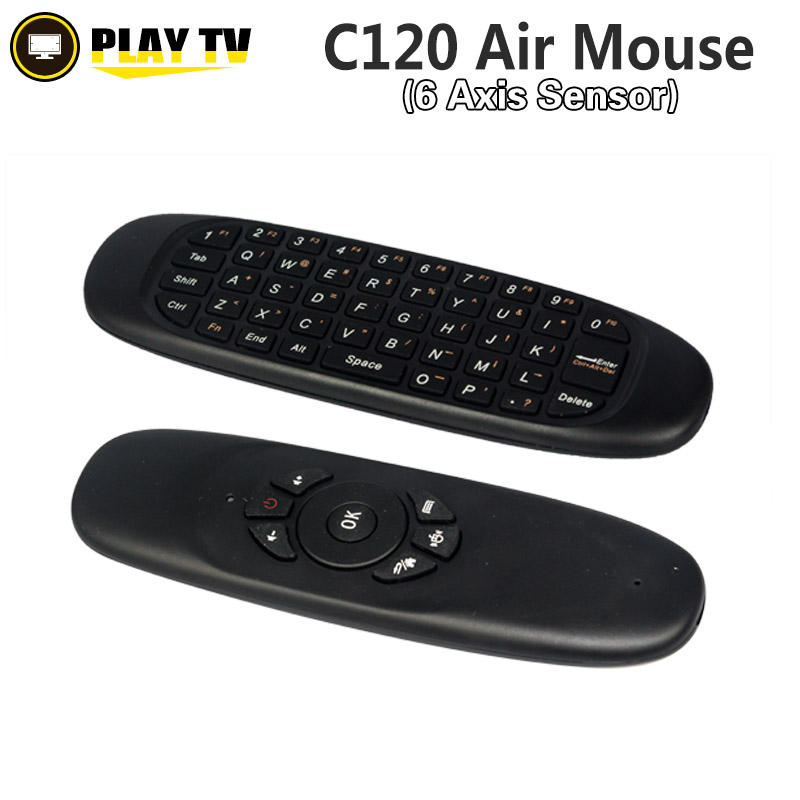 10pcs 2.4GHz c120 air mouse Wireless keyboard fly Air mouse remote control for Android TV BOX Computer(China (Mainland))