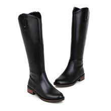 Meotina Frauen Schuhe Winter Reiten Stiefel Platz Ferse Westlichen Stiefel Zipper Med Ferse Kniehohe Stiefel Damen Neue Rot Plus größe 34-43(China)