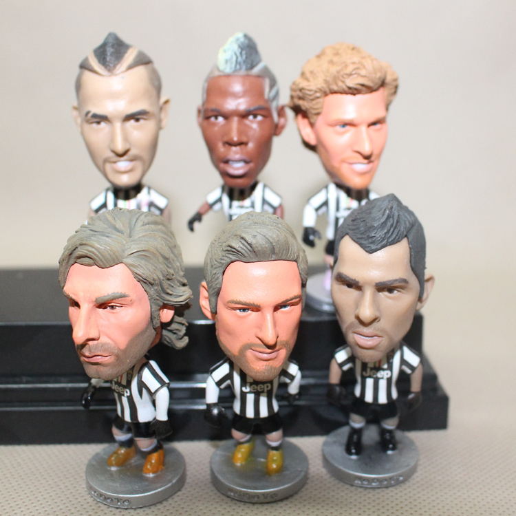 Hot! Novelty Soccer Star Doll Italy Juventus Player Pirlo Pogba Toy Doll Fashion Football Fans Dolls Souvenir Free Shipping(China (Mainland))