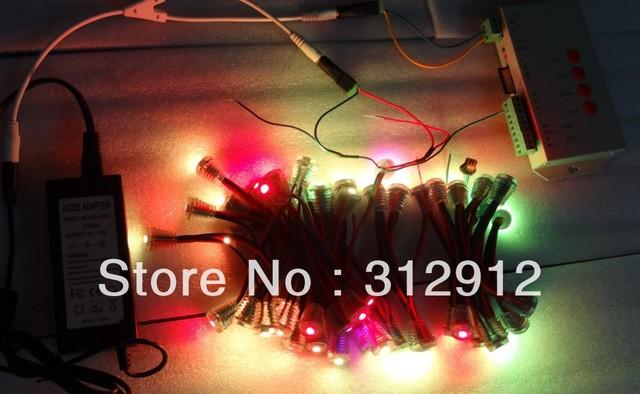 100pcs 16mm 5V WS2811 5050 SMD pixel node+T-1000S sd card controller+5V/5A power adaptor