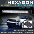 Auxmart 6D 32 inch 420W LED Light Bar Cree Chips Combo Beam Bar Light Offroad 12v