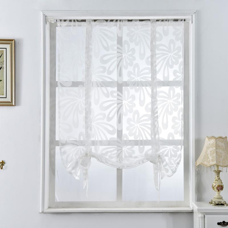 Curtains Roman Kitchen Curtains Floral Blinds Short: Kitchen Short Curtains Jacquard Roman Blinds Floral
