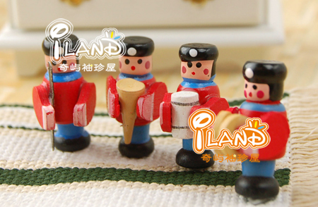 1/12 Dollhouse Miniatue Accessary Toy Band 4 Bandsman