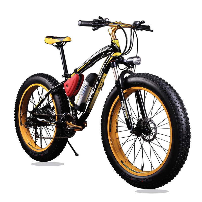 New Bicycle 36V Lithium Battery Electric Snow Bike SHIMAN0 21 Speeds Mountain Bike Electric Bicycle Road Bike Black and Yellow(China (Mainland))