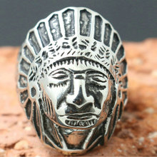 316L Stainless Steel Cool Newest Silver Indians Silver Cool Ring
