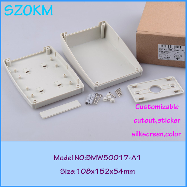 wall mount plastic electronics case light grey project box junction distribution boxes 152*108*54mm - Asia Quality Enclosure store