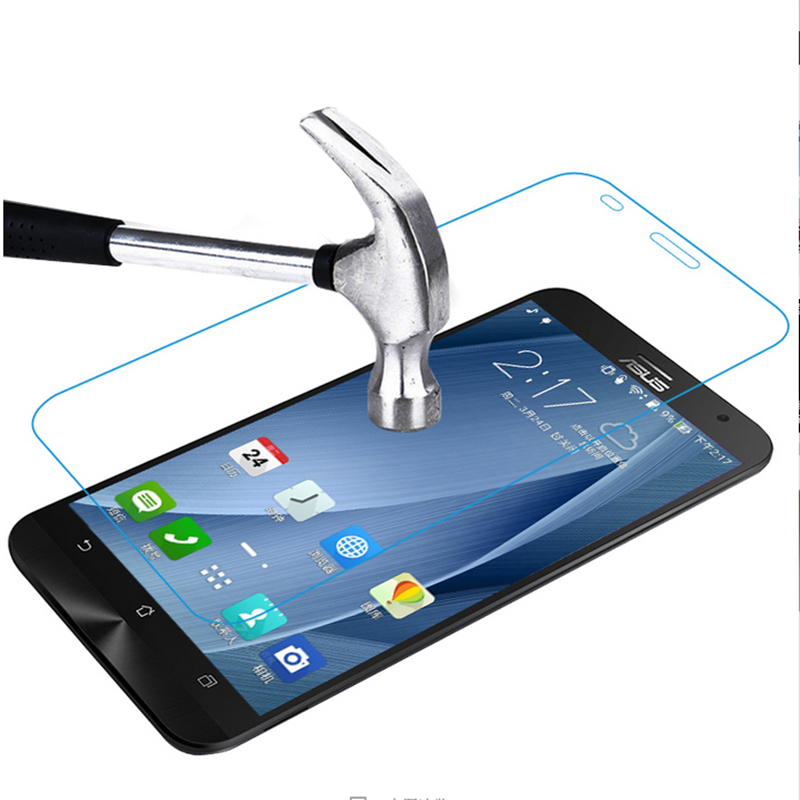 0.26mm 9H Premium Tempered Glass For Asus Zenfone 2 Deluxe ZE551ML Laser ZE550KL Premium Screen Anti Shatter Protector Film kd 5(China (Mainland))