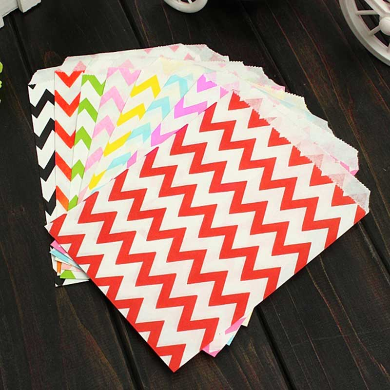 25 Pcs Candy Bag Stripe Treat Bags Wedding Birthday Party Favors Gifts Paper Bags Home Kitchen Accessories TB Sale(China (Mainland))