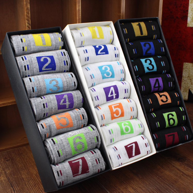 7 double box In the men's pure autumn winter sports socks(China (Mainland))