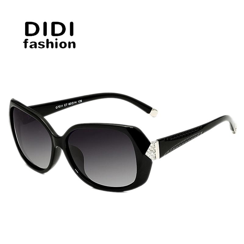 DIDI High-grade Tr90 HD Polarized Glasses Women's Imitate Diamond Carve Brand Sunglasses UV400 Fashion Goggle Oculos De Sol H112(China (Mainland))