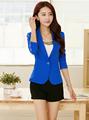 Female blazer outerwear 2016 spring and autumn women suit slim design women blazer blue suit fashion