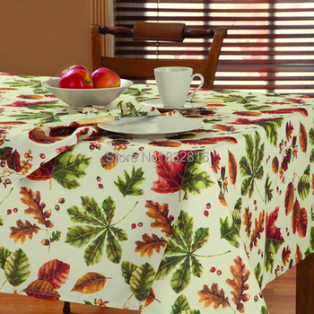 100% Polyester Plain Printed Fabric Kitchen Rectangle Table Cloths Outdoor Round TableCloth Table Linen 132x178cm