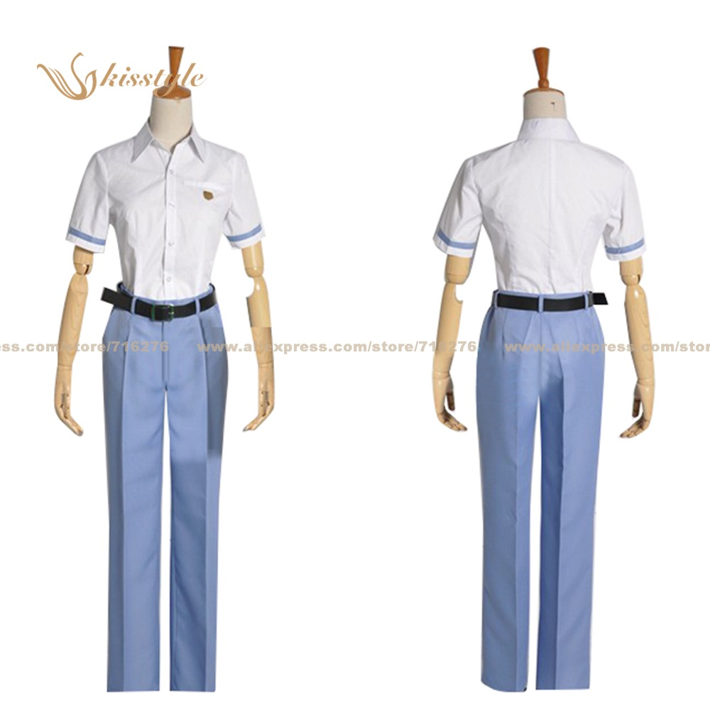Kisstyle Fashion Buddy Complex Aoba Watase Seio High School Uniform COS Clothing Cosplay Costume,Customized Accepted(China (Mainland))