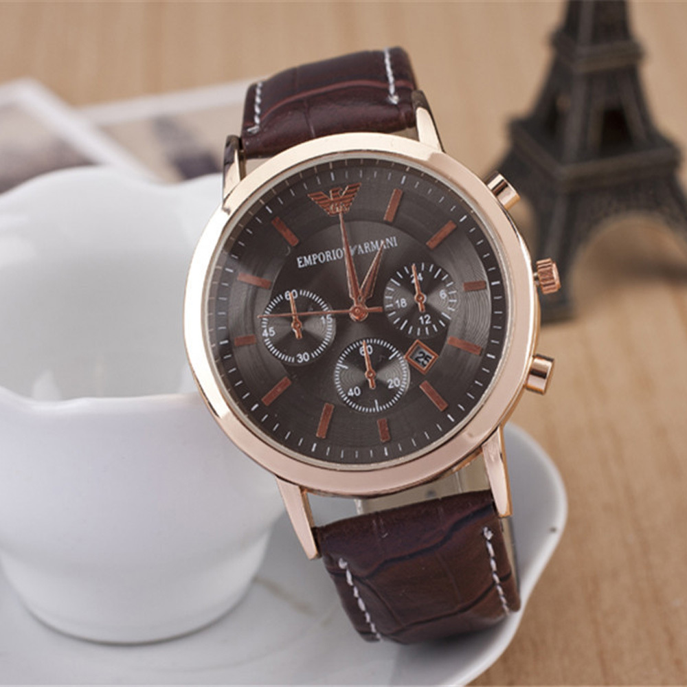 2015 Fashion Brand Unisex Vintage luxurious AM Watch Leather Wrist Watch with Big Dial Watch Hours for Men Women Relogio Reloj(China (Mainland))