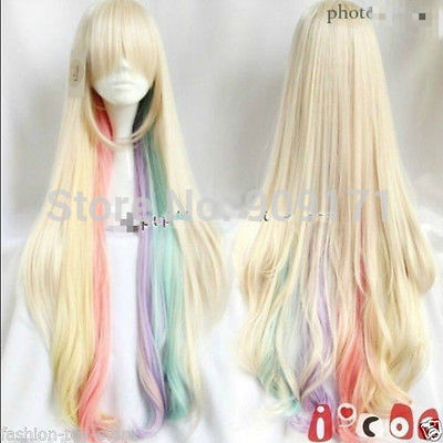 Amazing Harajuku wig the VOCALOID MAYU cosplay beautiful colorful long wigs (B)<br><br>Aliexpress