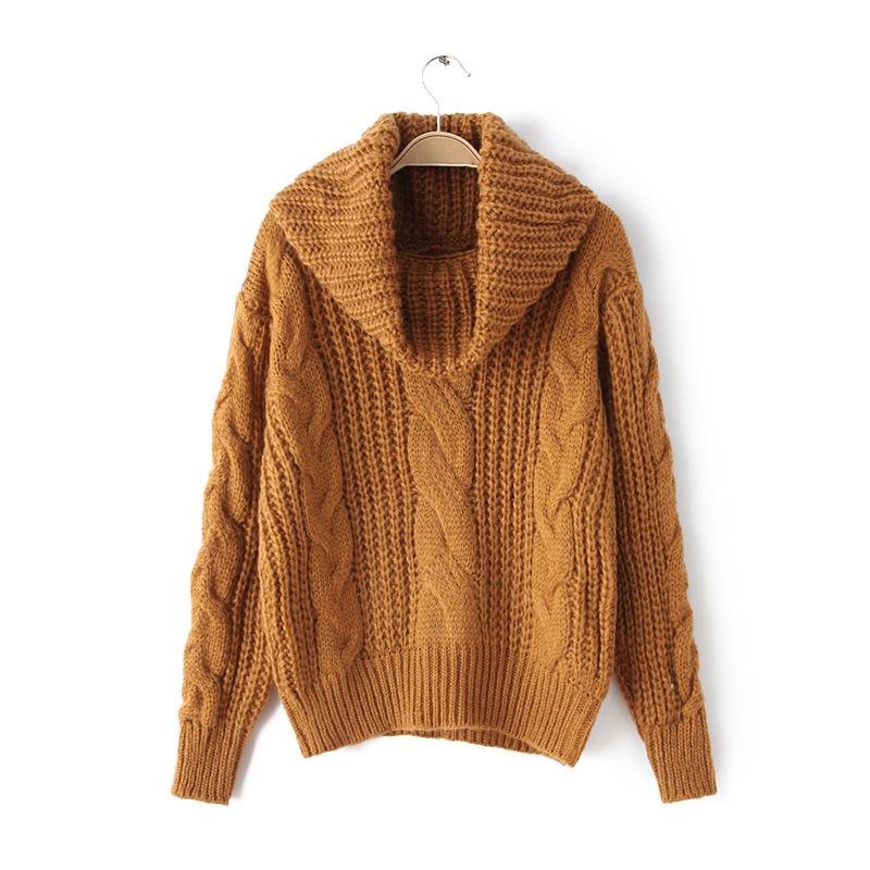 2015 winter fall fashion warm vintage solid crochet