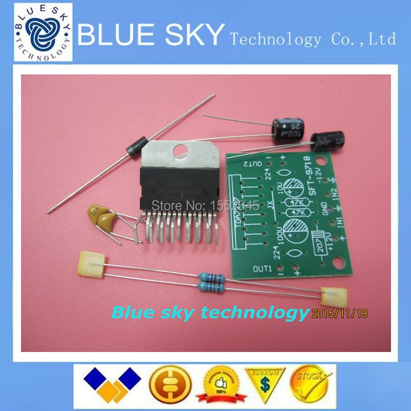 Free Shipping TDA7297 amplifier board parts dc 12v 2.0 dual audio encoding 2*15w electronic diy kit 2PCS/LOT(China (Mainland))