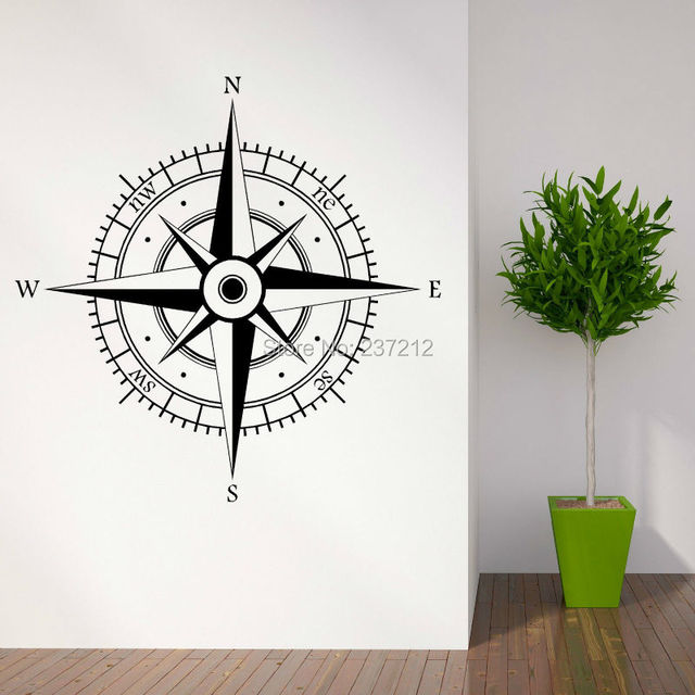 Wall Art Stickers East Rand : Aliexpress buy free shipping compass contempory