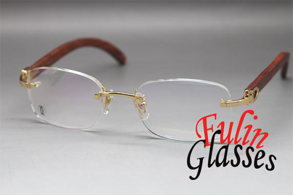 Rimless 3524015 Wood Eyeglasses Exquisite Metal Glasses In Gold Size: 56-18-140mm Одежда и ак�е��уары<br><br><br>Aliexpress
