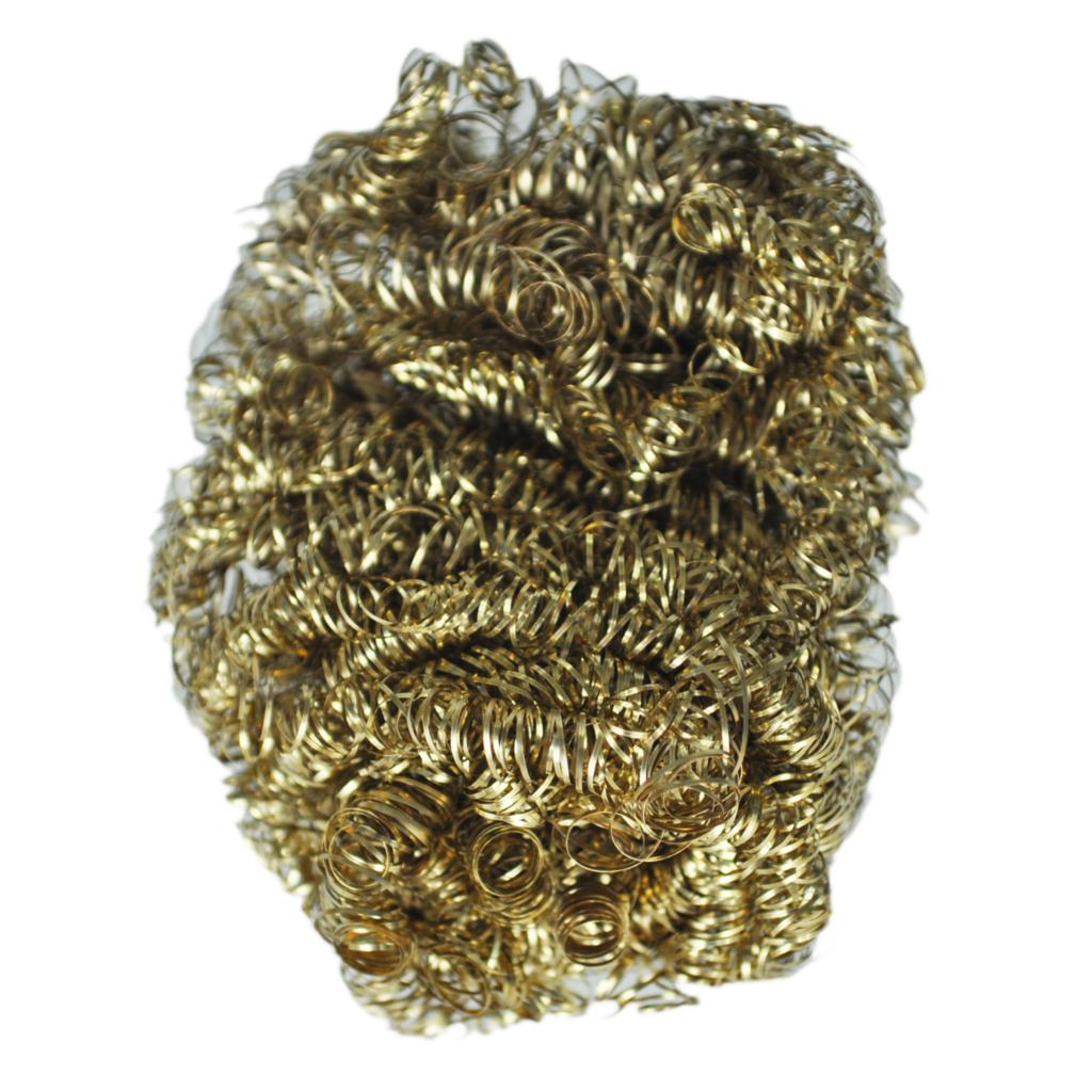 FJS Wholesale New 8cm Diameter Copper Spiral Scourer Cleaning Ball for Machine Tool(China (Mainland))