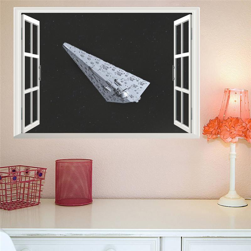 affreschi murali finestre finte : Finte finestre Adesivi Murali Stella guerra spacecraft stickers murali ...