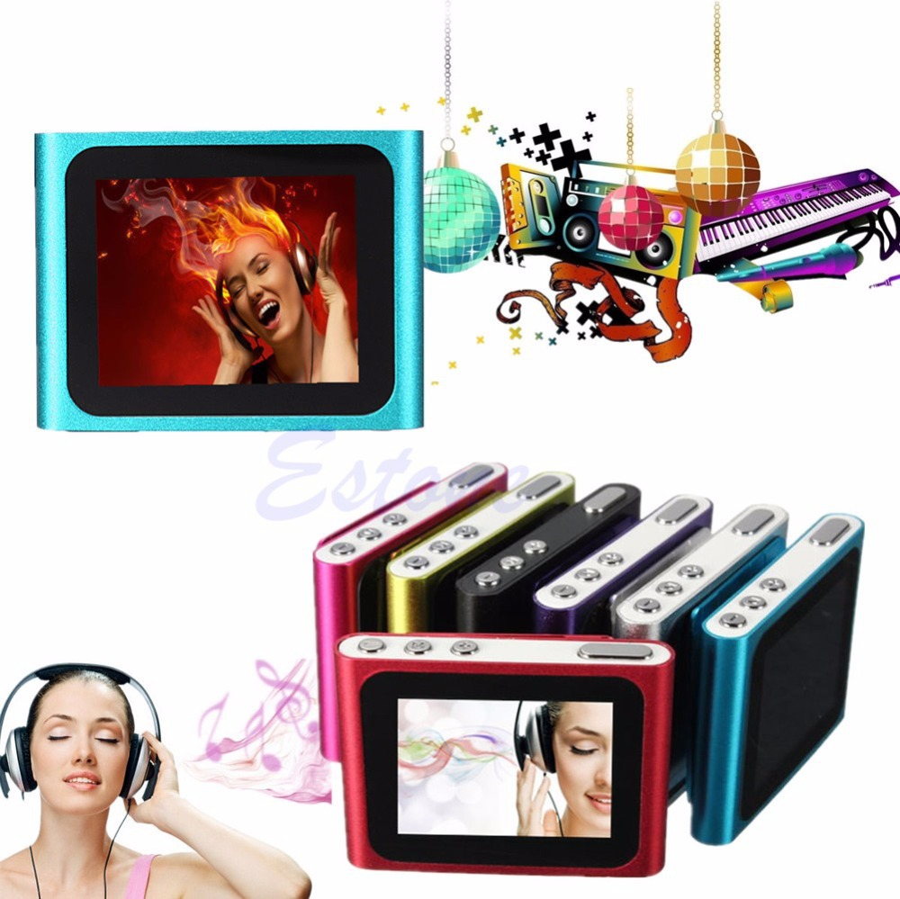 6th Gen 1.8in LCD Mp3 Player FM Radio Games Movie Support Micro SD/TF 2-16GB(China (Mainland))