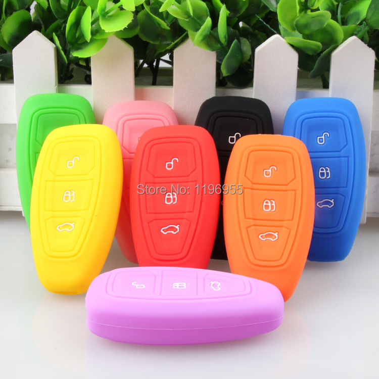 2013 2014 for Ford focus 3 Ecosport Silicone car key cover remote cover for Fiesta Focus Mondeo Ecosport Kuga focus st(China (Mainland))