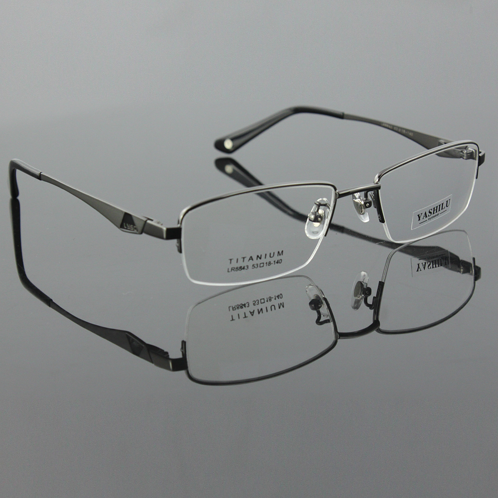Titanium Eyeglass Frames Mens : Aliexpress.com : Buy Pure titanium mens eyeglasses myopia ...